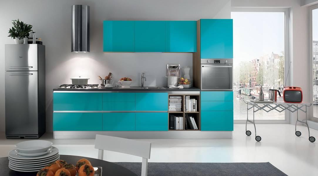 Бирюзовая кухня (62 фото): бирюзовые тона в интерьере кухни, выбор стиля кухонного гарнитура, сочетание цвета бирюзы с белым и другими цветами, примеры дизайна