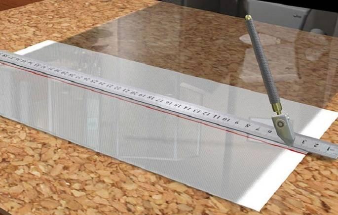 Резка плитки стеклорезом в 3 этапа