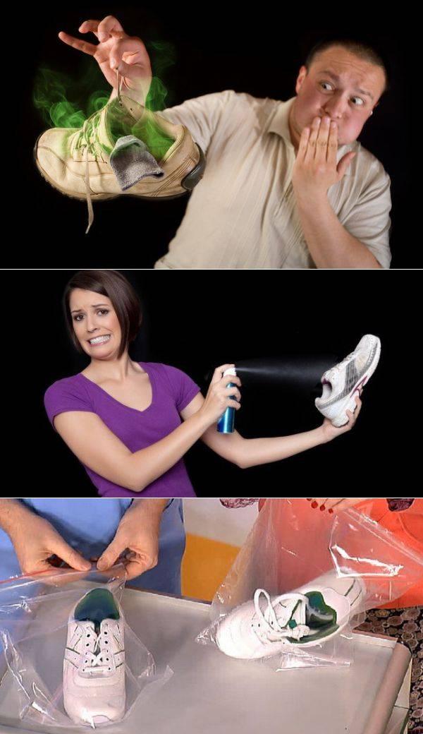 Способы избавления от запаха в обуви, подручные и специальные средства