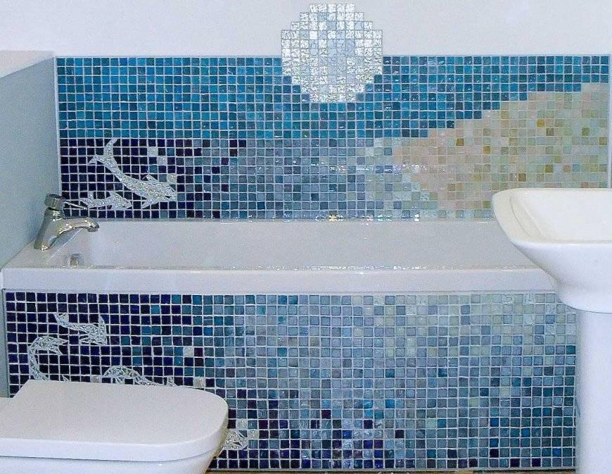 Мозаика в ванной: фото интерьера ванной комнаты, сочетание мозаикой и плиткой