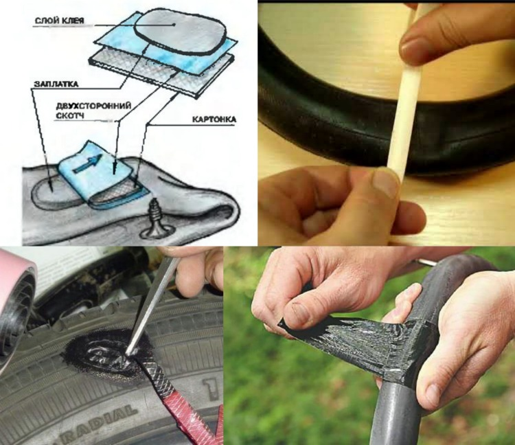 Как самостоятельно заклеить камеру велосипеда, как поставить заплатку на колесо