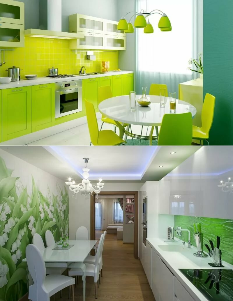 Картинки дизайн кухни в зеленом цвете
