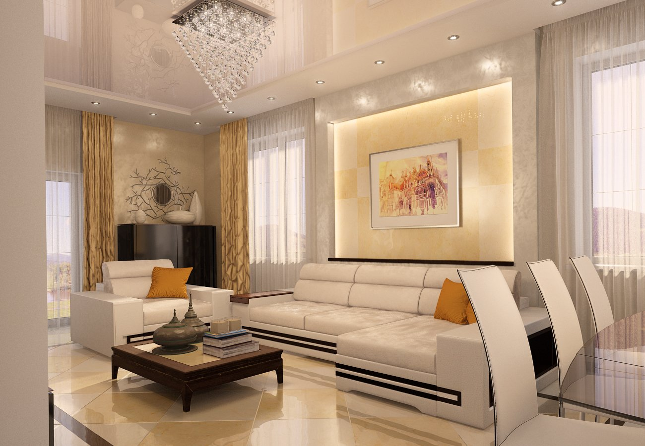 Картинки оформление зала в квартире фото