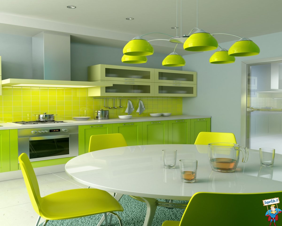 Сочетание цветов в дизайне кухни фото