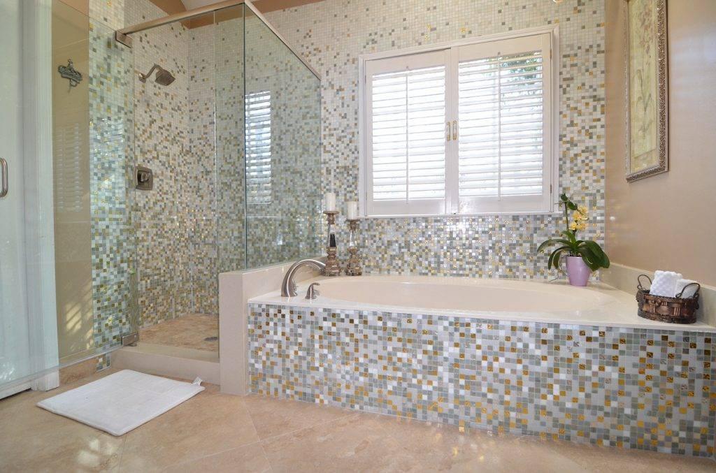 Дизайн плитки-мозаики для ванной комнаты: релакс-интерьер, 100+ фото стильных ванных