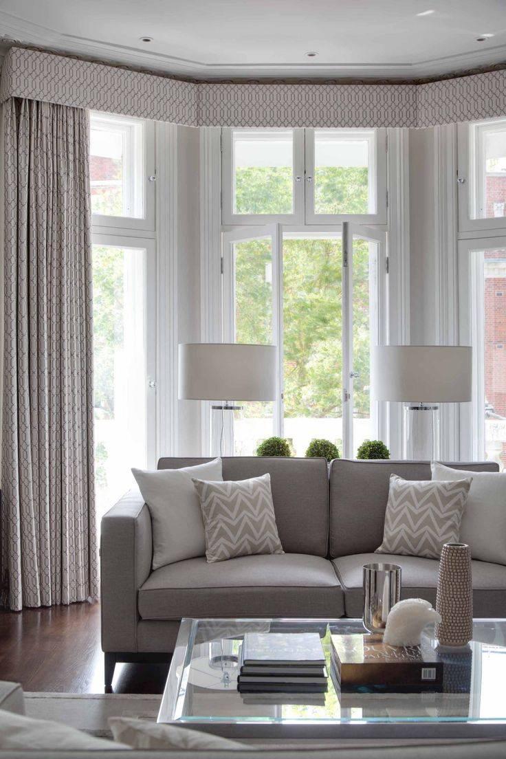 Дизайн интерьера гостиной с эркером фото