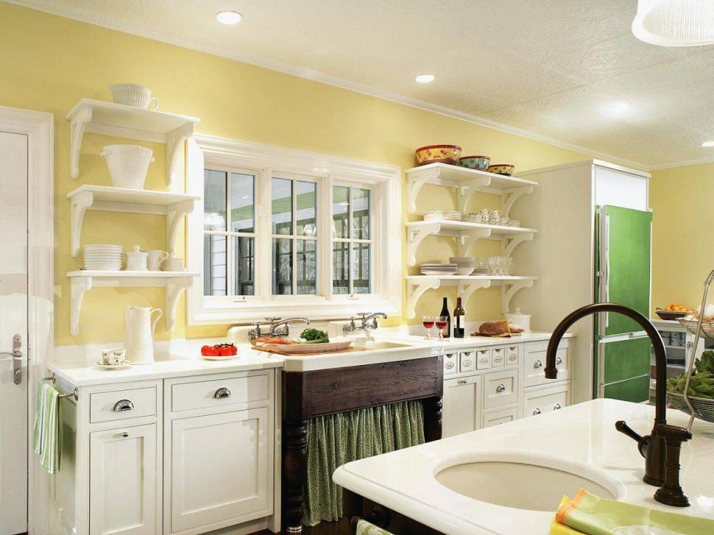 крашеные стены в кухне фото обстановка будет