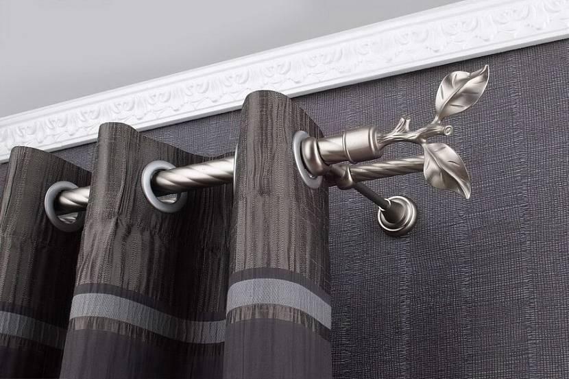 Как повесить шторы на потолочный карниз на крючки: правила монтажа карниза