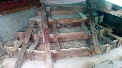 Армирующая сетка для укрепления ступеней