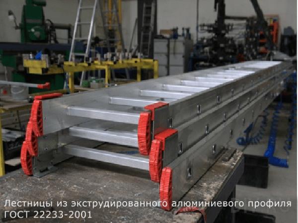 Автоматизированное производство алюминиевых лестниц из отечественного материала (ГОСТ 22233 – 2001) на импортном оборудовании, сертифицированном по европейскому стандарту EN 131.