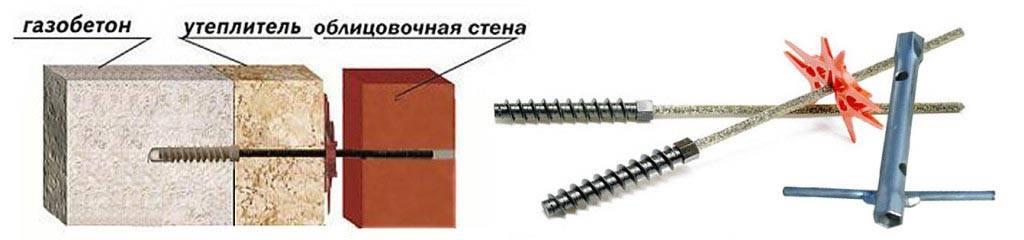Гибкие связи для кладки кирпича