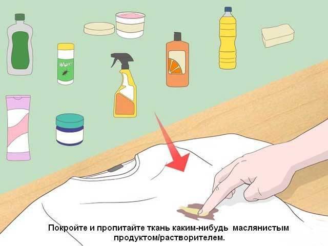 Как убрать смолу с одежды из разных тканей?