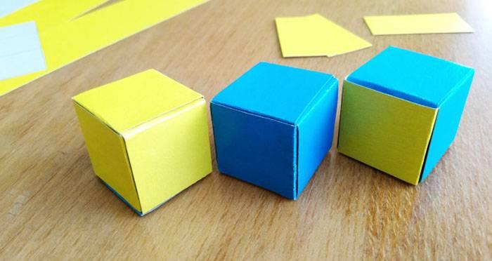 Как сделать куб своими руками из бумаги и картона