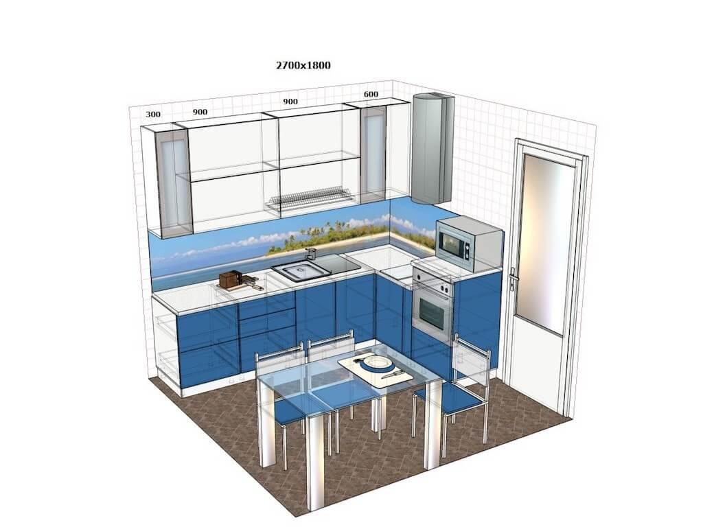 Особенности оформления дизайна кухни-гостиной 19 кв. м