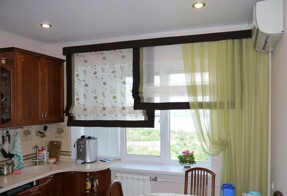 Шторы на кухню с балконной дверью — 123 фото в современном дизайне