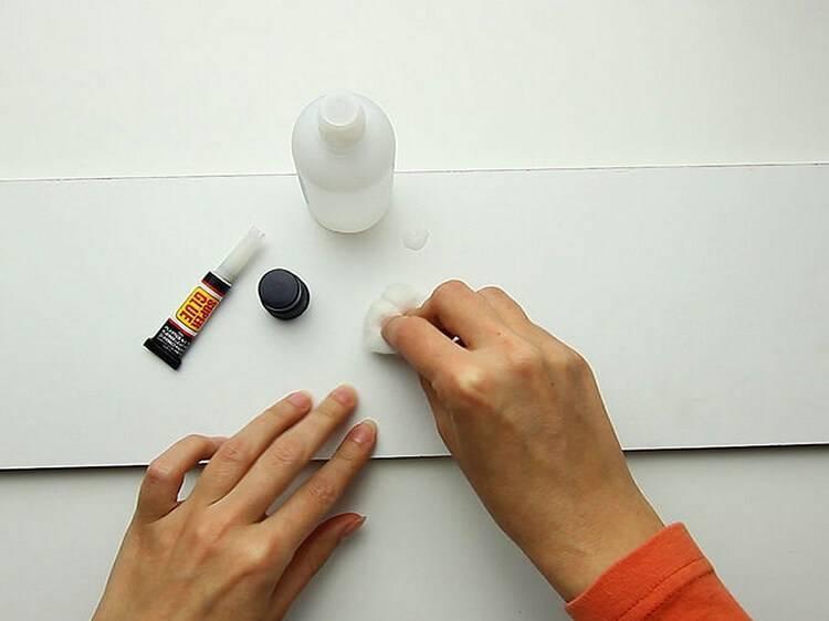 Как удалить клей с рук, пальцев, ногтей и волос