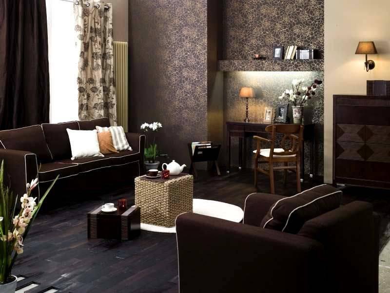 Коричневый диван в интерьере: виды, дизайн, материалы обивки, оттенки, сочетания