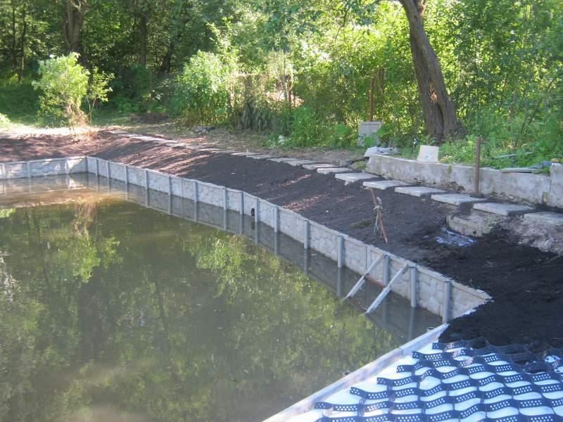 Способы укрепления берега естественного и искусственного водоёма