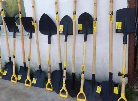 Виды лопат и их особенности