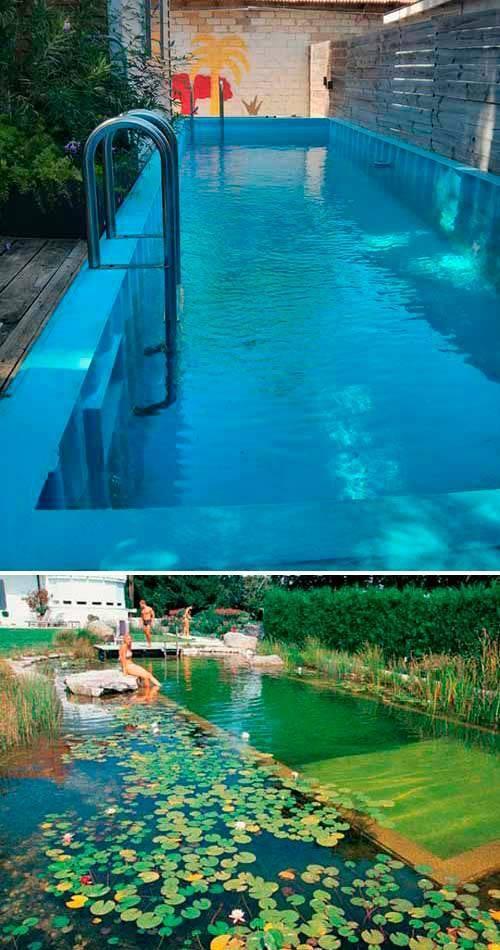Разного вида резервуары с водой