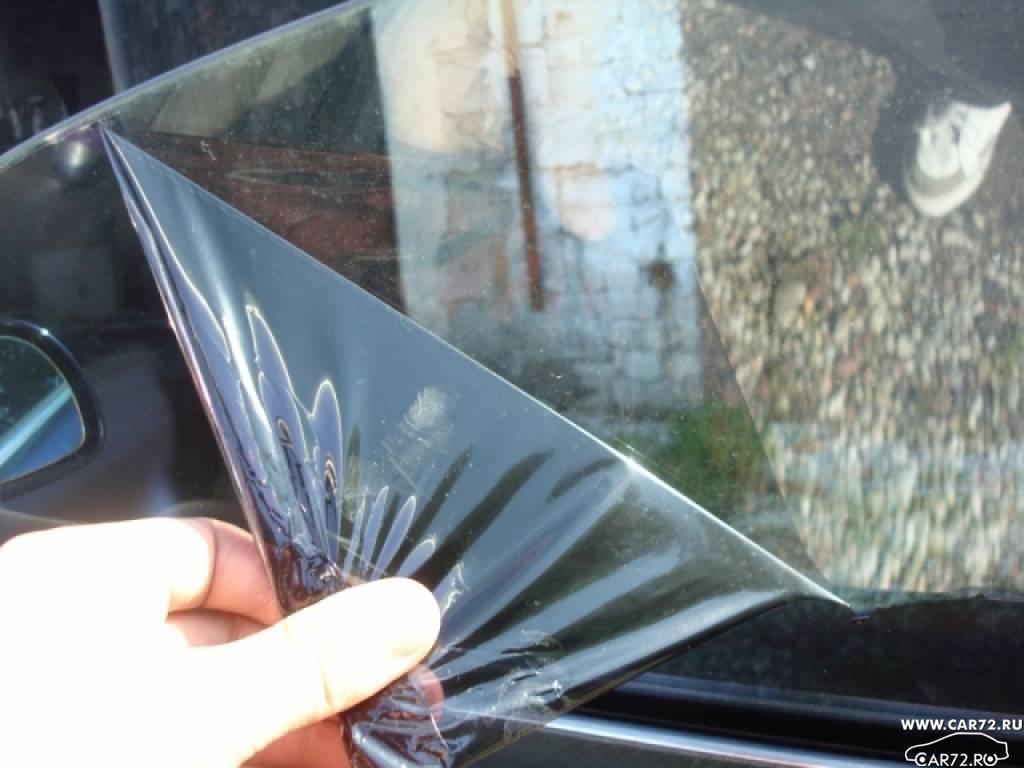 Чем оттереть клей от тонировки со стекла