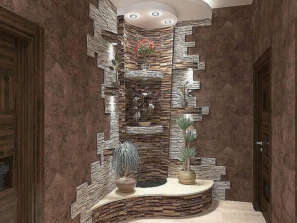 шквал материалов декор коридора искусственным камнем фото волосы