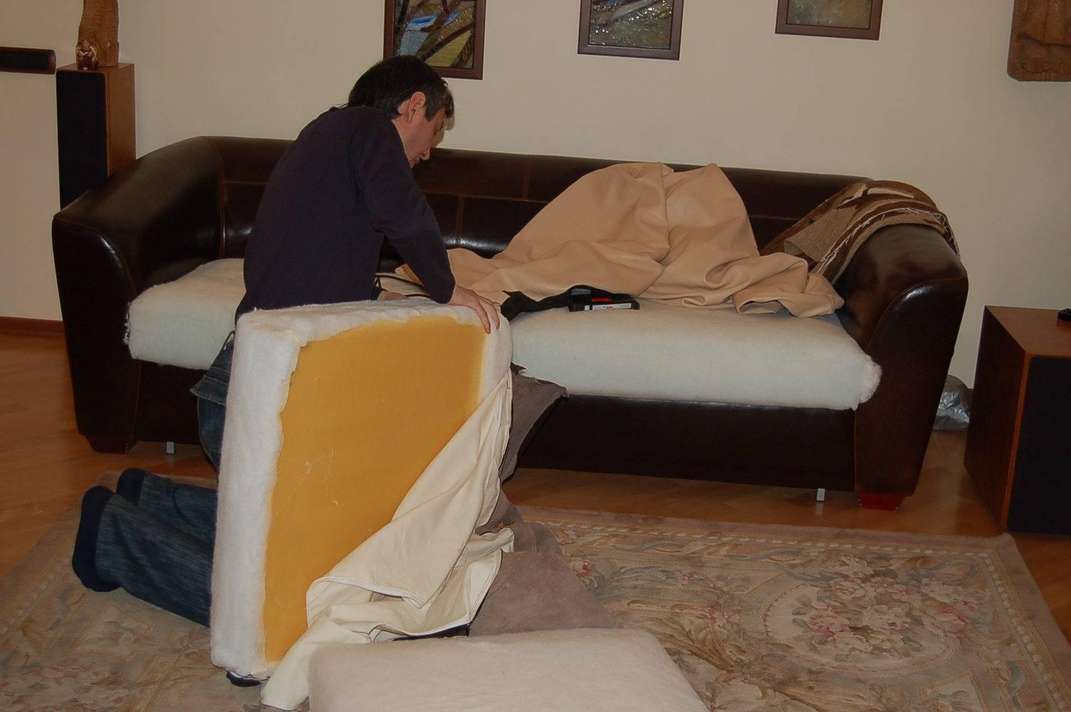 Ремонт дивана своими руками фото
