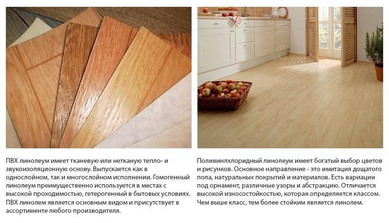 Линолеум для кухни: как и какой выбрать + фото