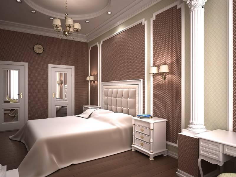 оформление стен в классической спальне фото собирал фотографии необычных