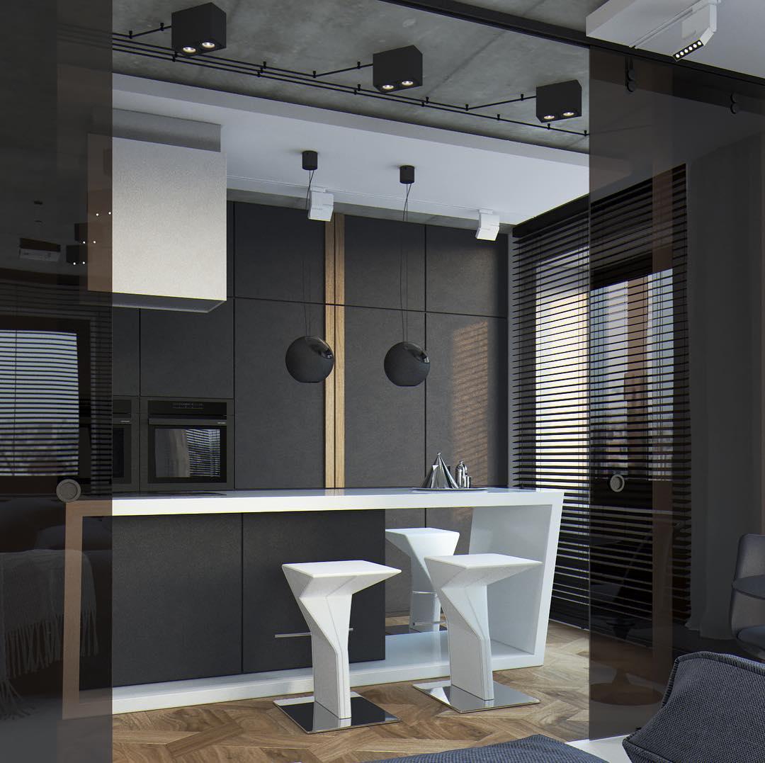 Кухня в стиле хай-тек: фото дизайна в реальных квартирах, варианты интерьера