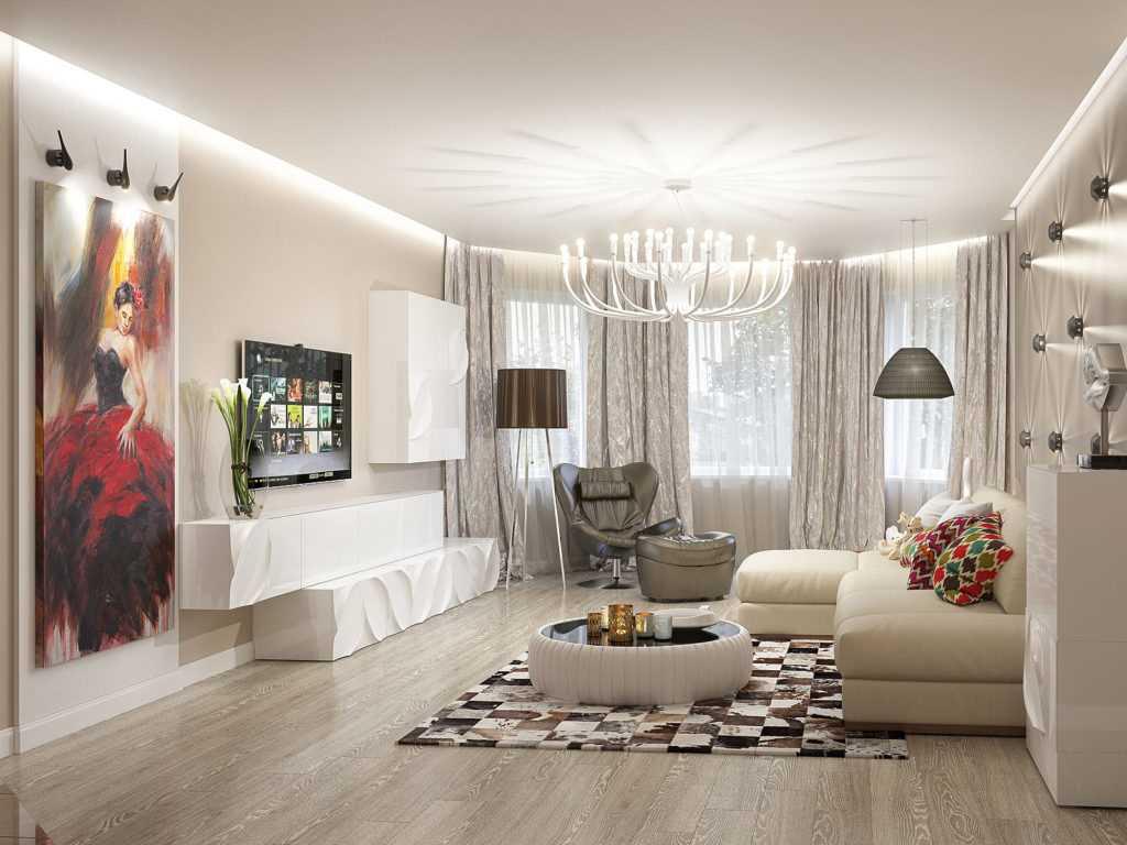 Гостиная с эркером: оригинальный интерьер в квартире и частном доме