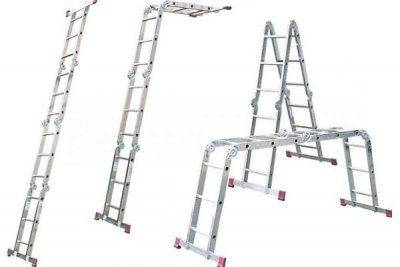 Телескопическая лестница-стремянка – особенности конструкции и применение