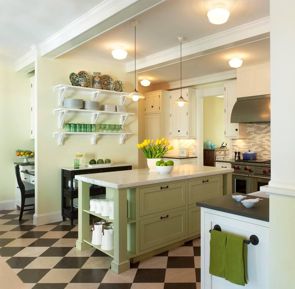 Фисташковая кухня: фото дизайна, сочетание с другими цветами в интерьере