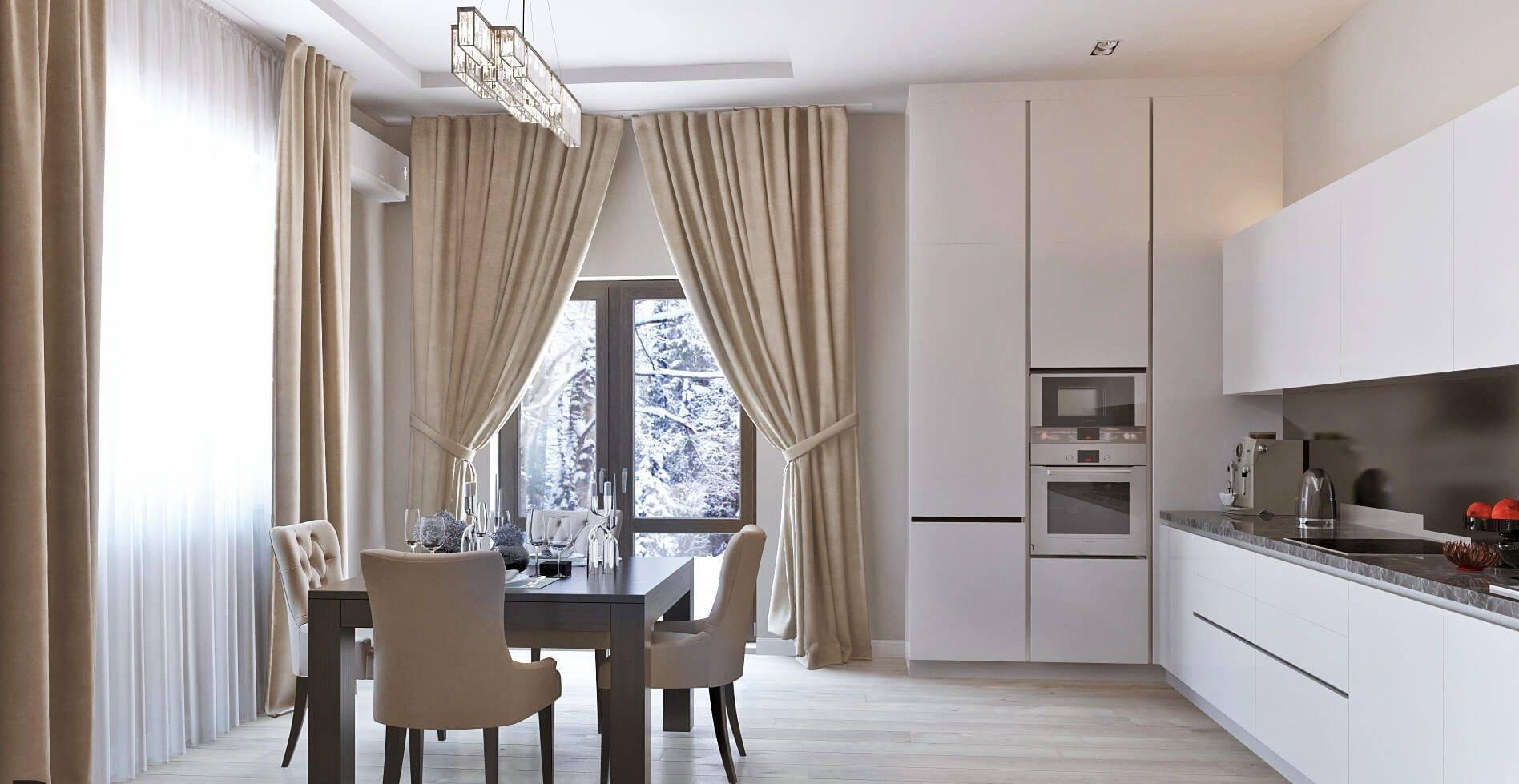 Современные шторы для столовой - особенности выбора, уникальные советы и фото идеи