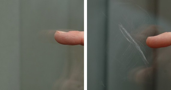 Как заделать царапину на зеркале