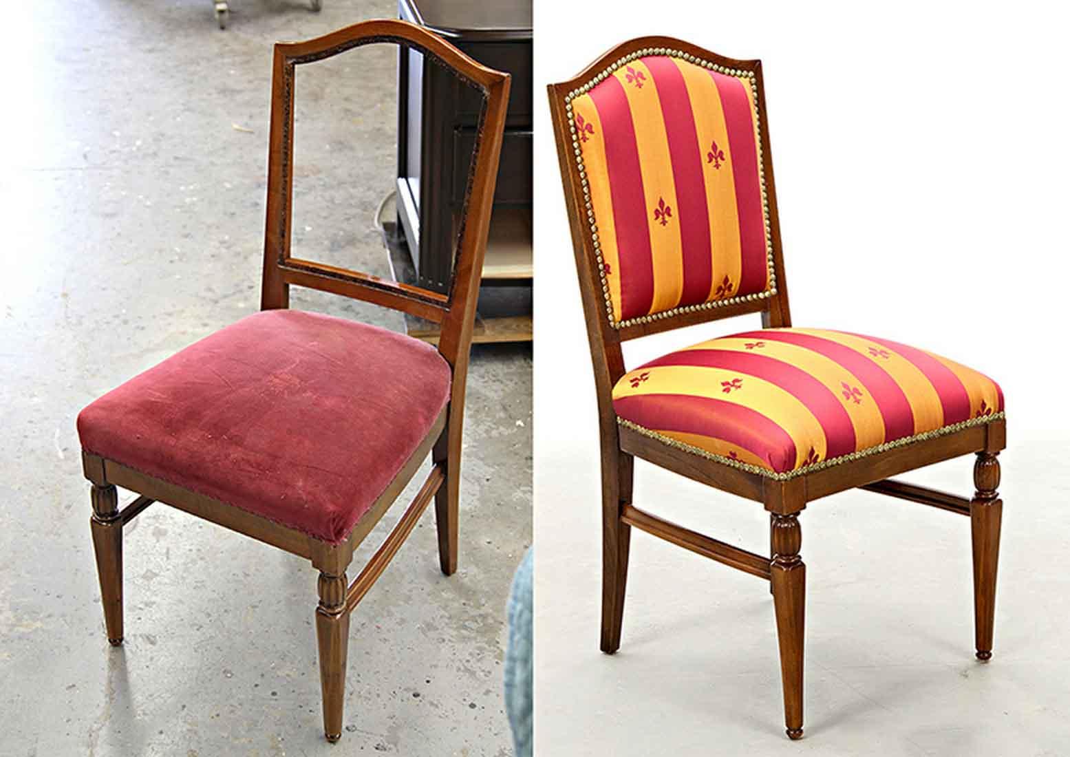 Как обшить стул своими руками фото
