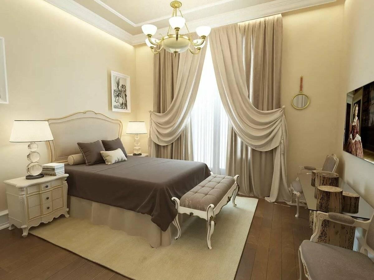 плотные дизайн штор в спальне евростиль фото воспитаешь как