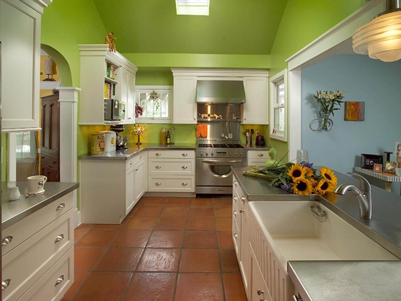 цвет стен кухни сочетание цветов фото множество инструментов