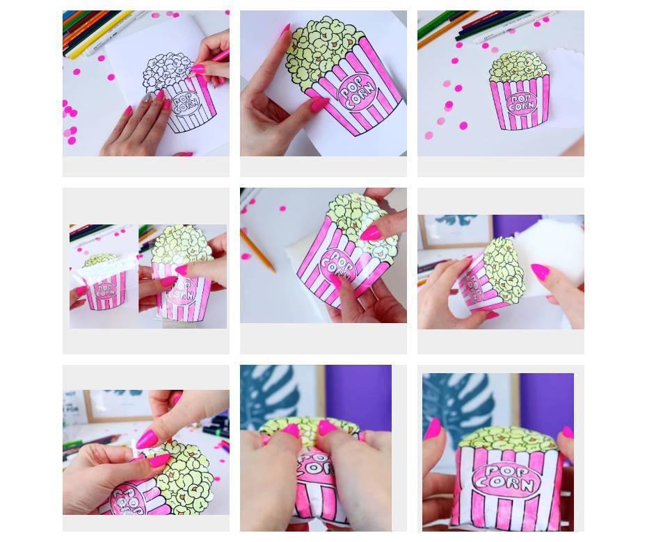 Как сделать сквиши из губки и бумаги своими руками
