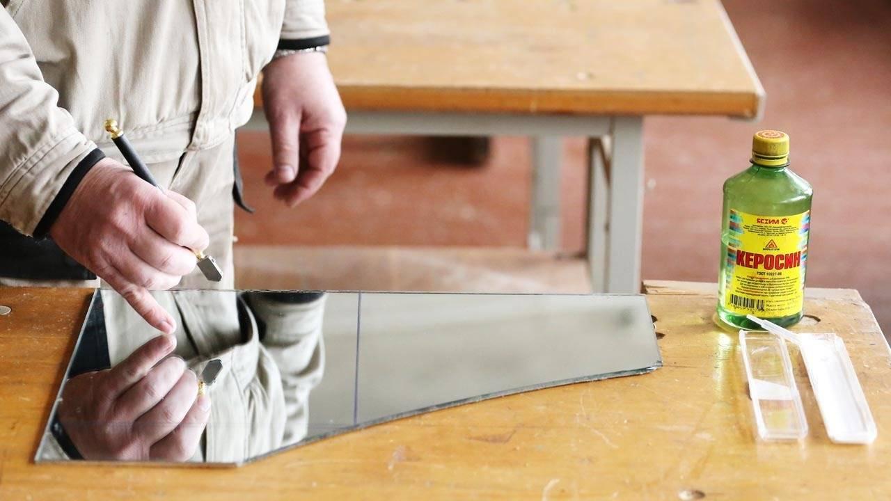 Как разрезать керамическую плитку стеклорезом
