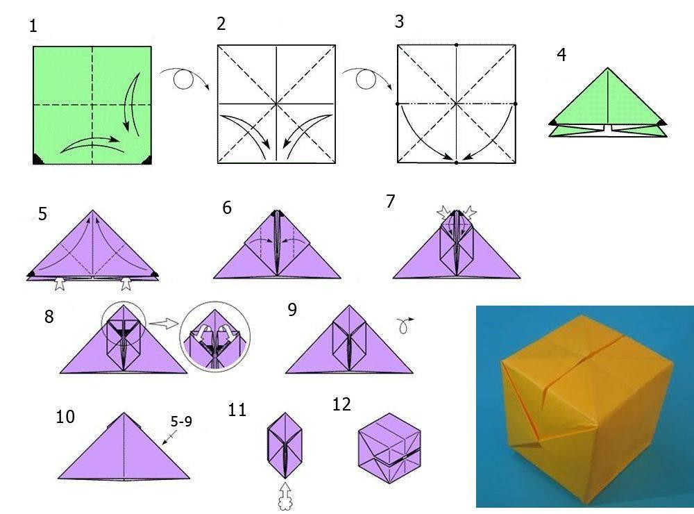 Как сделать объёмный куб из бумаги или картона