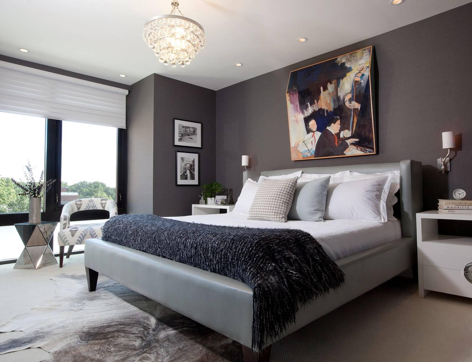 Стены в спальне - 100 фото уютного дизайна. инструкция по оформлению стен в современном стиле
