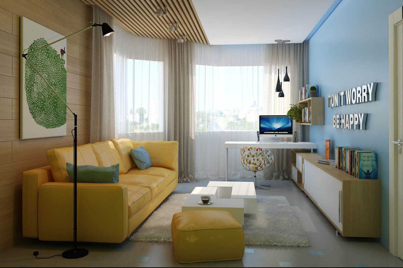 Советы по обустройству интерьера в маленьких гостиных комнатах