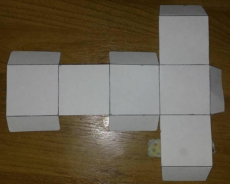 Объемные бумажные кубики без клея и ножниц