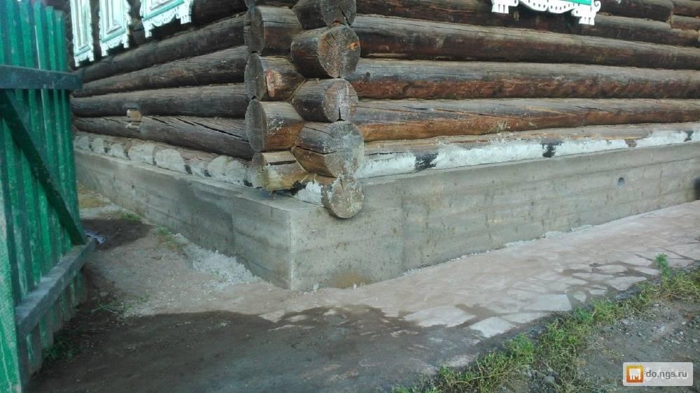 Подведение, ремонт и замена фундаментов старых деревянных домов