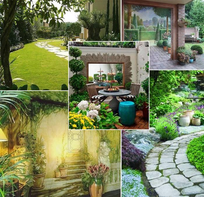 Декор в саду