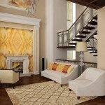 Деревянная лестница в интерьере частного дома