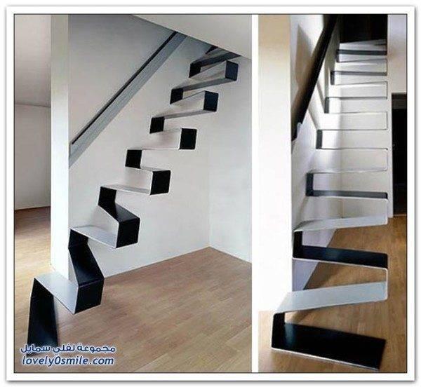 Дизайнерская фантазия дала миру впечатляющую лестницу с кривыми ступенями.