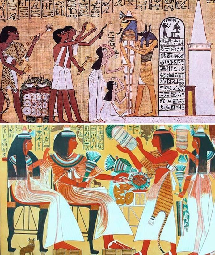 Трапеза в древнем Египте