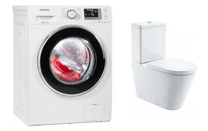 Унитаз и стиральная машина